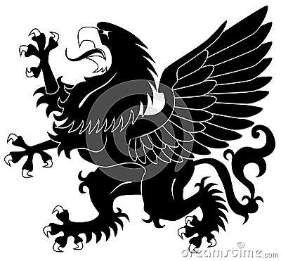 Standing heraldic griffin
