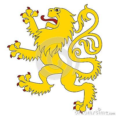 Heraldic lion 24