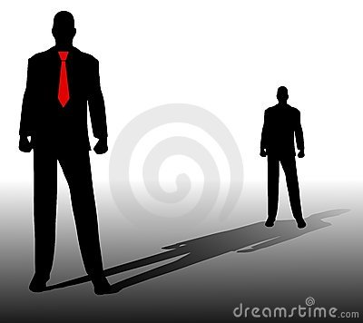 Free Standing In The Shadow Of Yourself Royalty Free Stock Photos - 4318288
