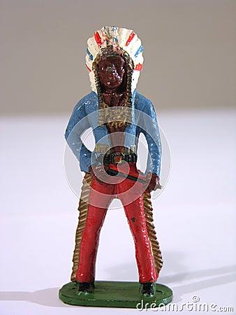 Standing indian warrior Stock Photo