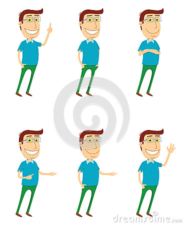 Standing man with various poses