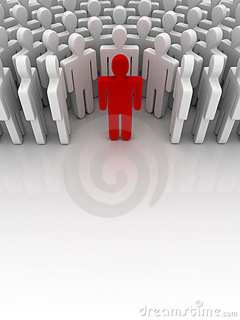Free Standing Out From The Crowd Stock Photography - 6014702