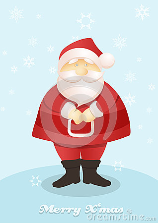 Standing Santa postcard.