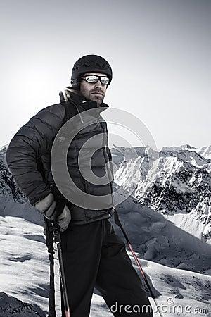 Standing skier