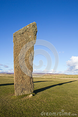 Standing stone with copyspace