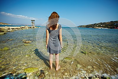 Standing in water