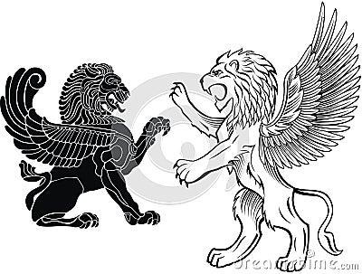 Winged Lion Tattoo