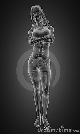 Standing woman radiography