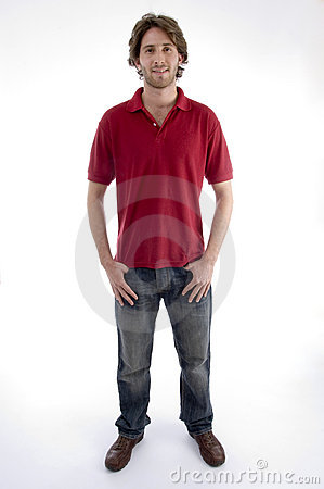Standing Young Man Looking At You Royalty Free Stock Photos - Image: 6988868