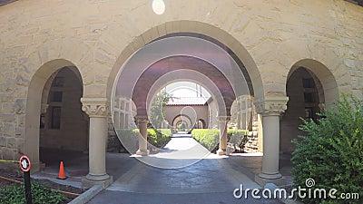 Stanford Gate Palo Alto stock videobeelden