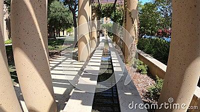 Stanford Palo Alto-Brunnen stock video footage