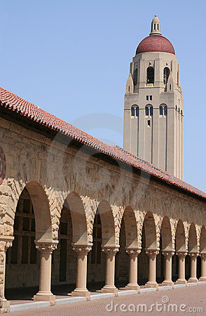 Stanford University Quad and Tower