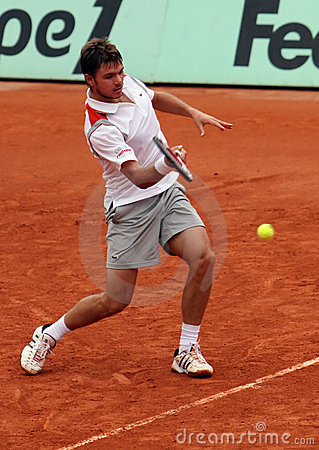 Stanislas Wawrinka (SUI) at Roland Garros 2009 Editorial Stock Image