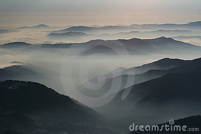 Stanisoara mountains and clouds