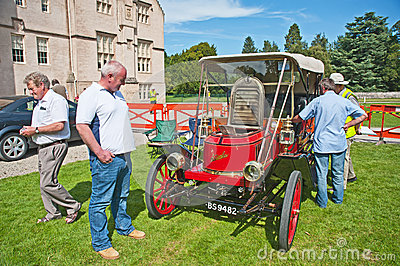 Stanley steam car dated to 1910 at Brodie Castle. Editorial Photo