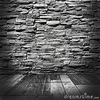 Stanza con le pareti di pietra ed i pavimenti di legno immagini ...