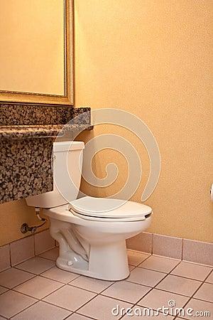 Stanza da bagno e toletta gialle semplici fotografia stock immagine 14888862 - Stanza da bagno ...