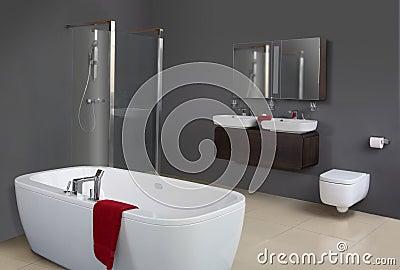 Stanza da bagno grigia moderna immagini stock immagine 1798114 - Vasca da bagno grigia ...