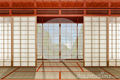 Stanza giapponese immagine stock immagine 25593631 for Stanza giapponese
