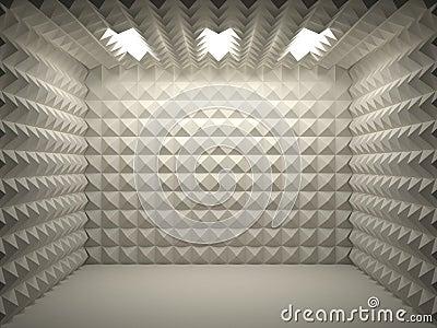 Stanza insonorizzata fotografia stock libera da diritti for Sound proof wall padding