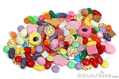 Stapel der Bonbons