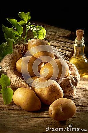 Stapel der Kartoffel