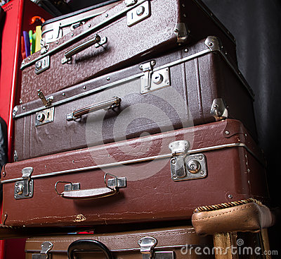 Stapel der Koffer