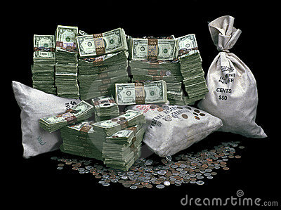 Stapel des Geldes