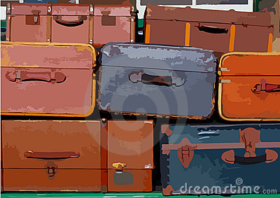 Stapel koffers