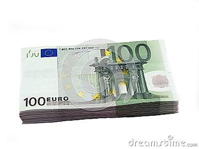 Stapel van 100 Euro