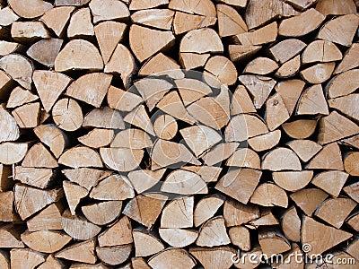 Stapel van boomstammen