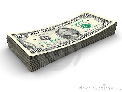 Stapel von $100 Rechnungen