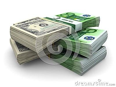 Stapel von Eurodollar 100