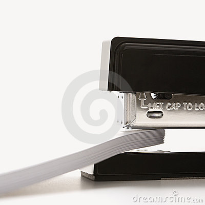 Free Stapler And Paper. Stock Photo - 2431470