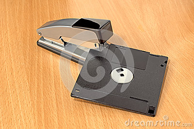 Stapler and diskette