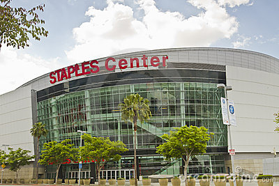 Staples Center In Downtown Los Angeles Editorial Stock Image