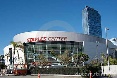 Staples Center in Los Angeles Editorial Stock Image