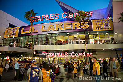 Staples Center in Los Angeles Editorial Image