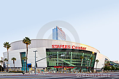 Staples Center At Sunrise In Los Angeles Editorial Photography