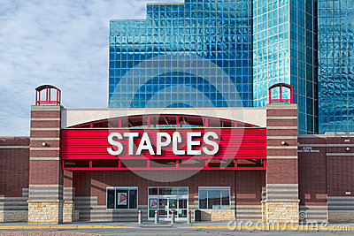 Staples Office Supply Store Editorial Photography Image