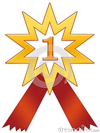 Free Star 1 Badge Royalty Free Stock Photos - 82328