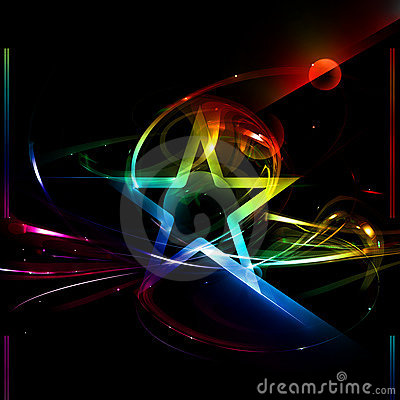 Star, abstract poster