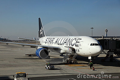 Star Alliance Aircraft Editorial Stock Image