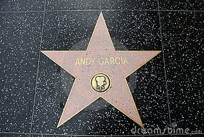 The star of Andy Garcia Editorial Stock Photo