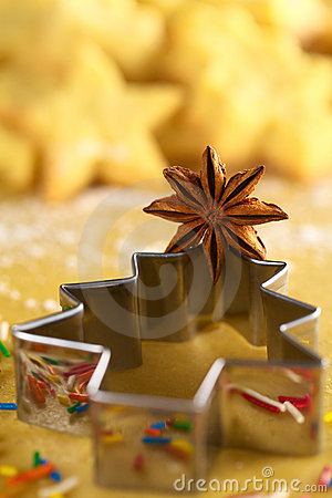 Star Anise on Christmas Tree Cookie Cutter