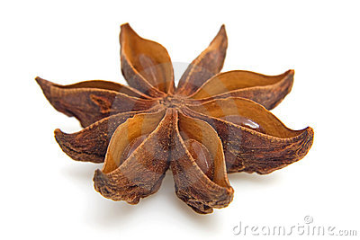 Star anise in closeup