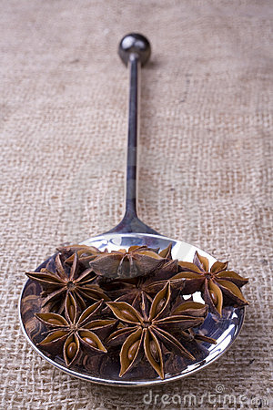 Star Anise on Spoon