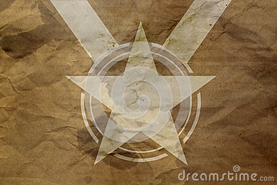 Star on antique background