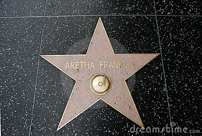 The star of Aretha Franklin Editorial Image