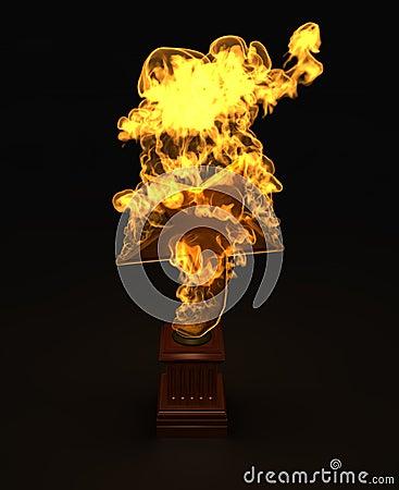 Star award in the fire